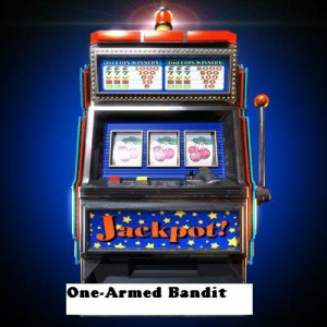 one armed bandit 300x300 The one arm bandit machine are at the top!