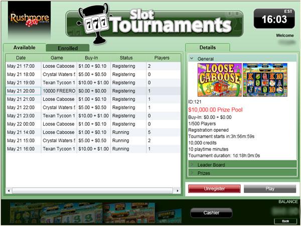 rushmore slot freeroll Rushmore Casino Slots Tournament